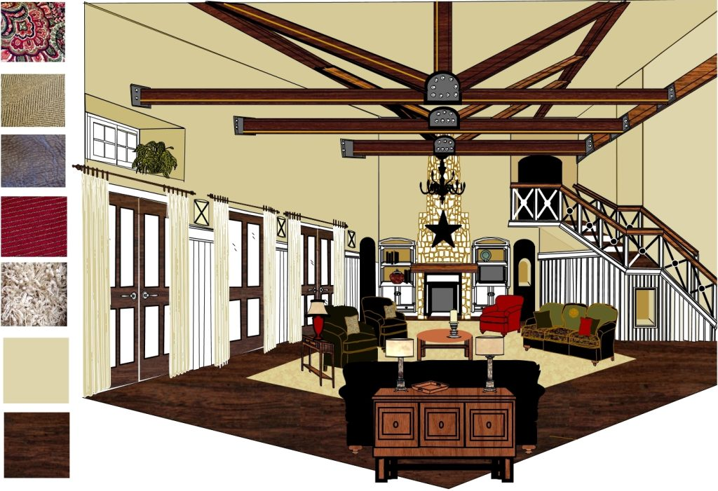 Living Room - Beams - Design by Annette Parker